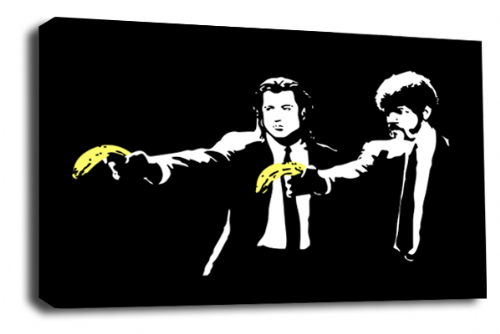 Banksy Art Pulp Fiction Banana Wall Canvas Peace Love Picture